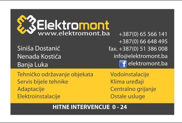 Kucni majstor-voda,struja,klime…00-24h Elektromont Banja Luka
